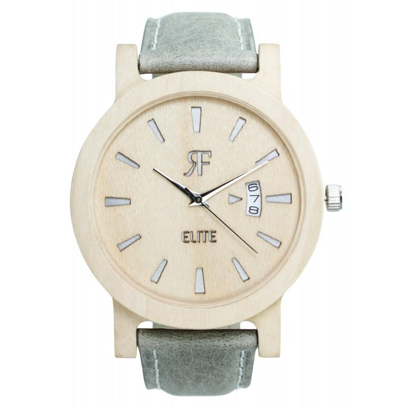 zegarek drewniany rf elite srebrny-klon