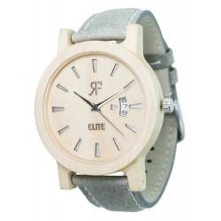 Zegarek drewniany RF ELITE Srebrny - Klon