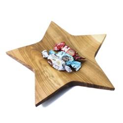 Drewniana miska gwiazda