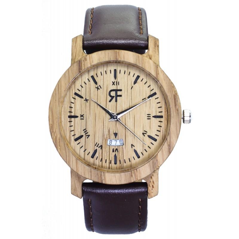 Drewniany zegarek REALFOREST MINI - Dąb