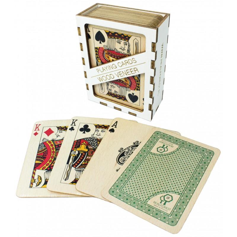 Ekskluzywne karty do gry z wzmocnionego forniru - Buk