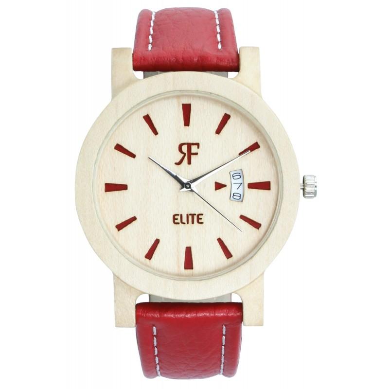 Zegarek drewniany RF ELITE Czerwony - Klon