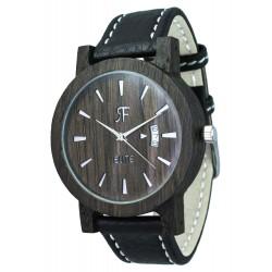 Zegarek drewniany RF ELITE - Czarny DĄB