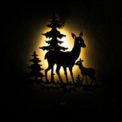 Dekoracyjna drewniana lampka nocna - Sarny