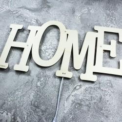 Dekoracyjna drewniana lampka nocna - Home