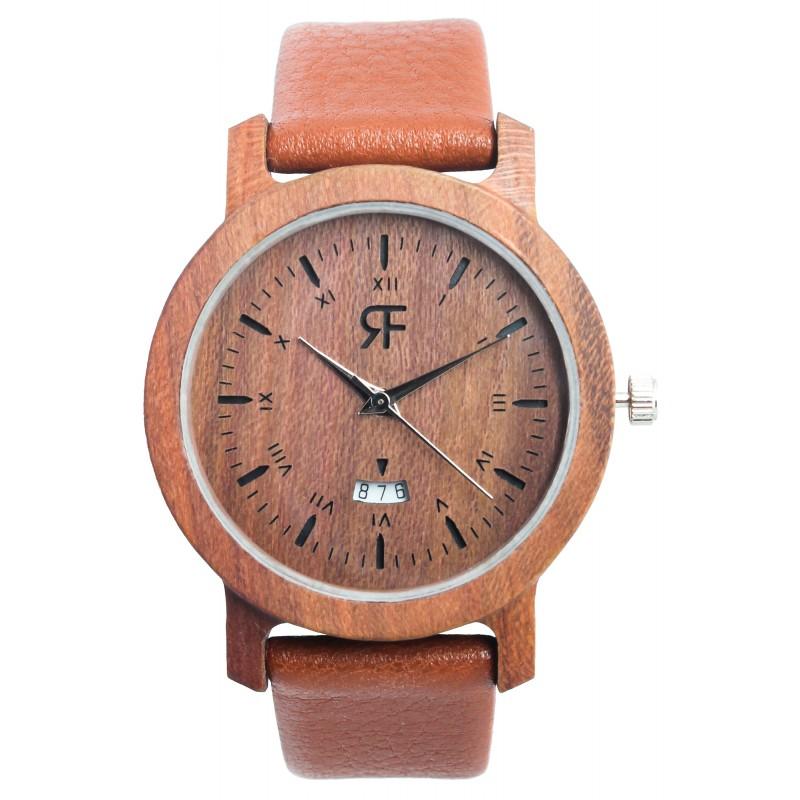 Drewniany zegarek REALFOREST MINI - Śliwa