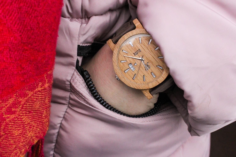 Zegarek drewniany Realforest Elite Dąb