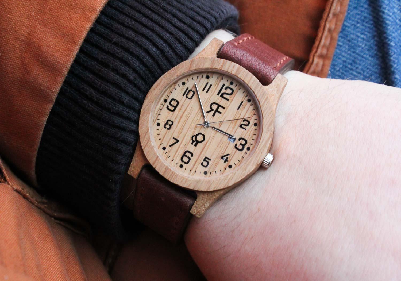 Zegarek drewniany Realforest Classic Dąb