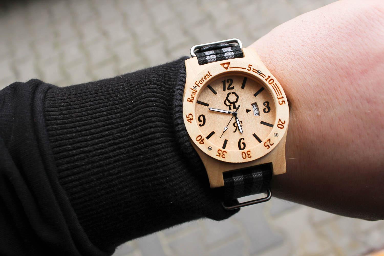 Zegarek drewniany Diver Style Biały