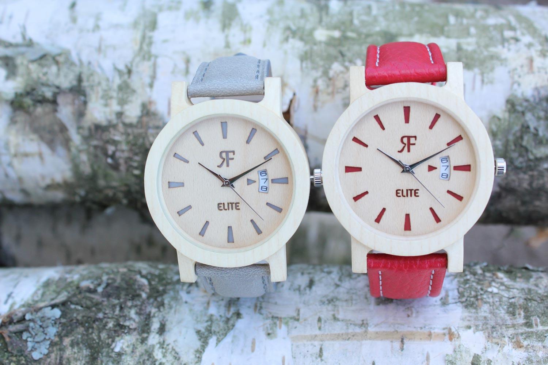 Zegarek drewniany Realforest Elite Czerwony Klon
