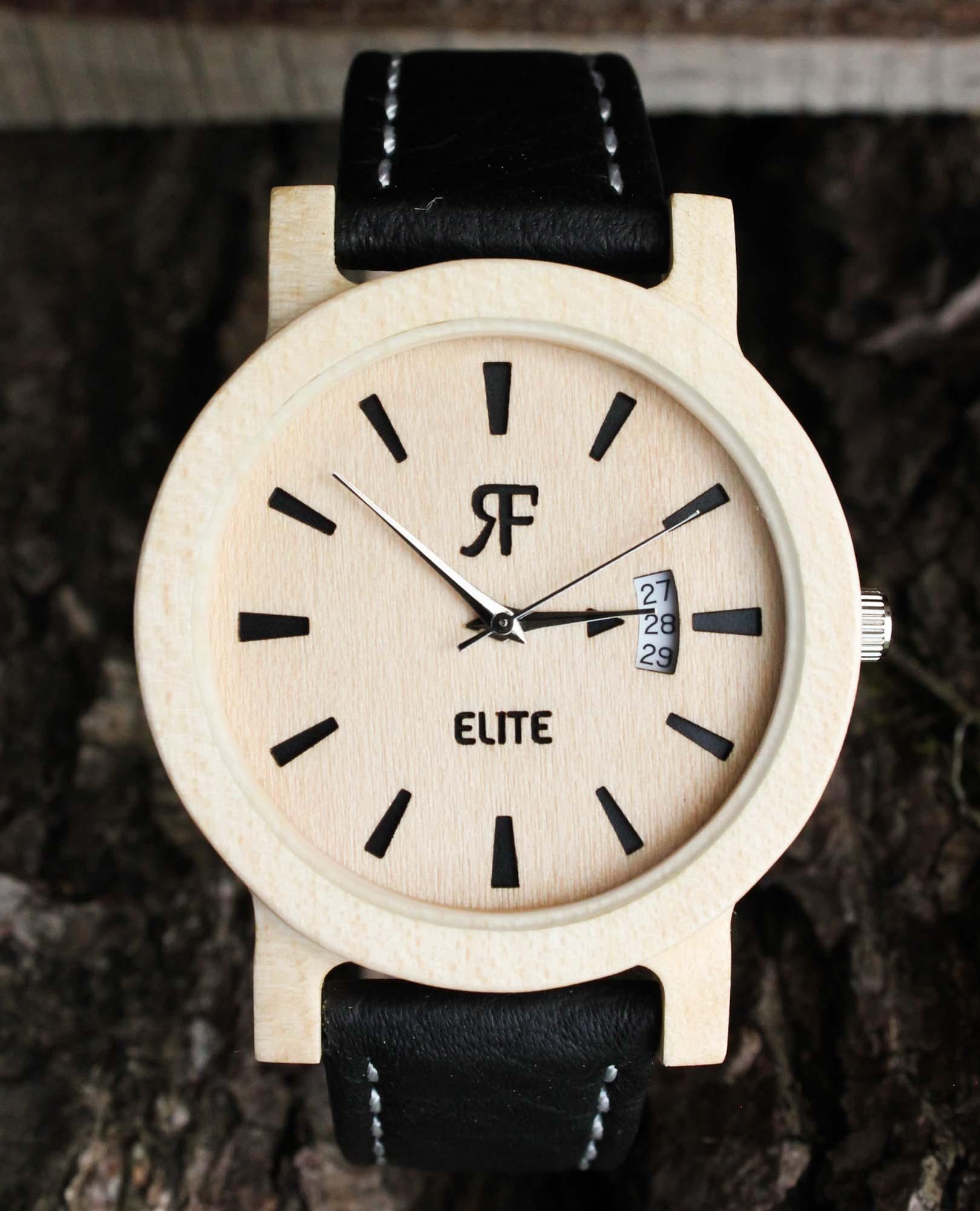 Zegarek drewniany Realforest Elite yin yang