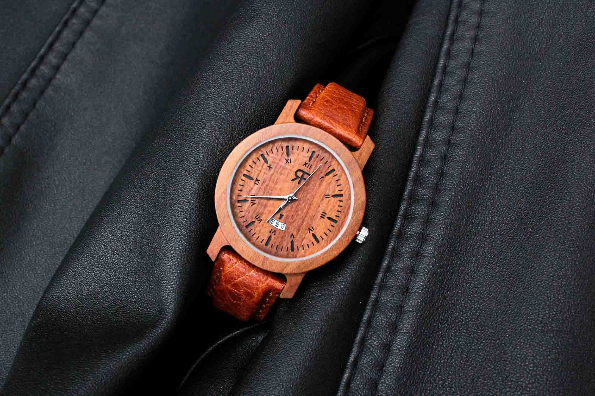 Zegarek drewniany Realforest Mini Klon